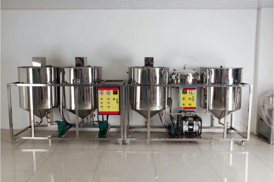 50D小型食用油精炼机 - 小型精炼油设备