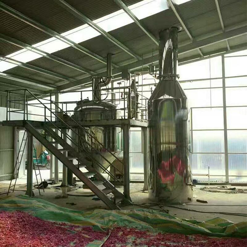精油提取生产线设备500L - 薄荷玫瑰柚子桔子精油