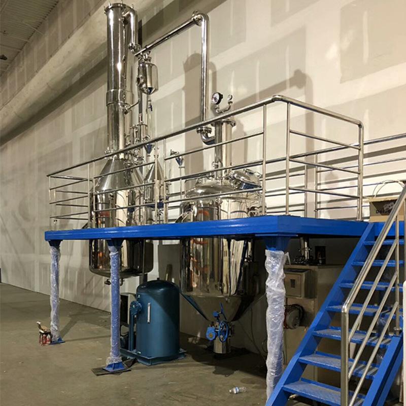大型精油蒸馏提取设备1000L - 杜松精油纯露提取